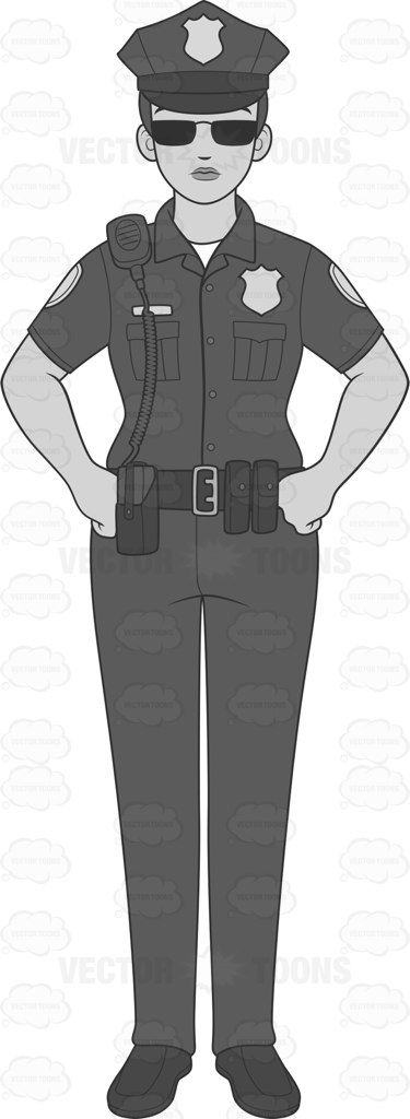 Female Cop Standing Straight And Looking Serious #arrest #badge #cop #duty #female #femaleperson #firearm #force #grownup #guard #guarding #gun #handsonhips #human #job #lady #law #lawenforcementagency #onpatrol #on-duty #patrol #person #personnel #pistol #police #policedepartment #policeforce #policesiren #policeman #policewoman #professional #radio #single #skilled #standtall #standingstraight #standingtall #utilitybelt #woman #vector #clipart #stock