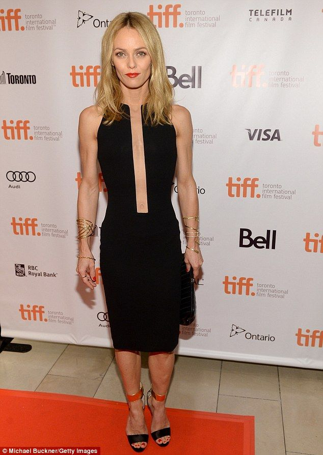 Vanessa Paradis vamped it up in a torso-revealing LBD while attending the Toronto Film Festival premiere of Fading Gigolo Saturday