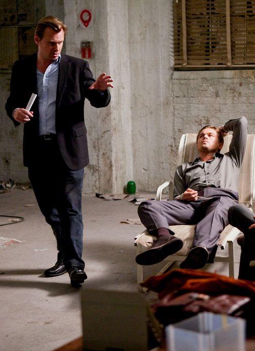 "Christopher Nolan & Leonardo DiCaprio On the set of ""Inception"" (2010) what depth this film had to bring to our realm, shamanic dream realm. K.S."