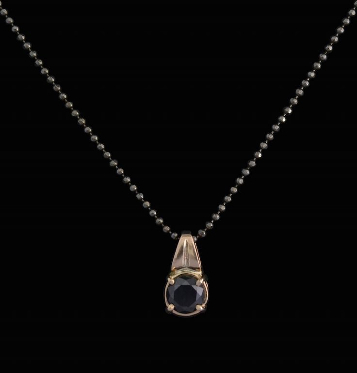 #rose #gold #black #diamond #pendant