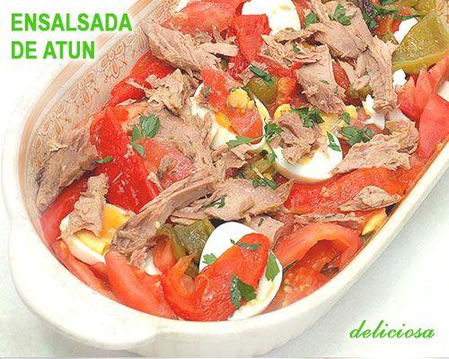 ensalada de pimientos y atún - dieta