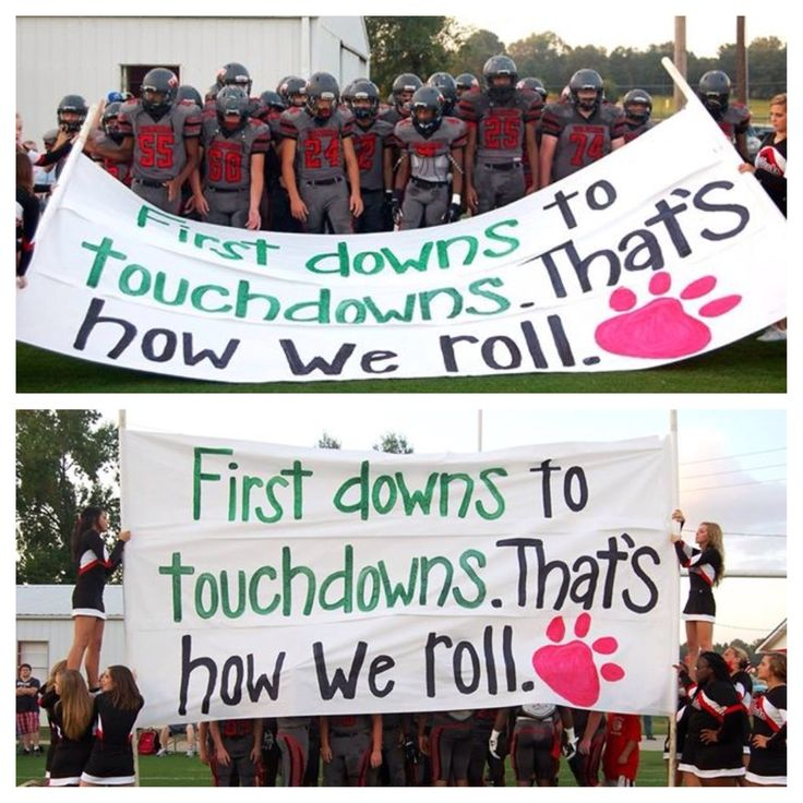 Football run through sign- the cheerleaders are really on their game this year!  Awesome wk WHS girls...