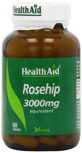 HealthAid Rosehip - 60 Vegan Tablets - http://vitamins-minerals-supplements.co.uk/product/healthaid-rosehip-60-vegan-tablets/