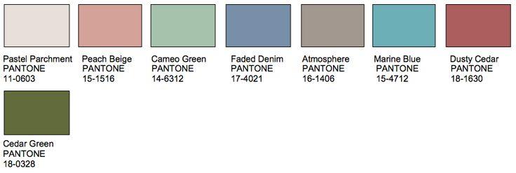 vintage kleuren palet - Google zoeken
