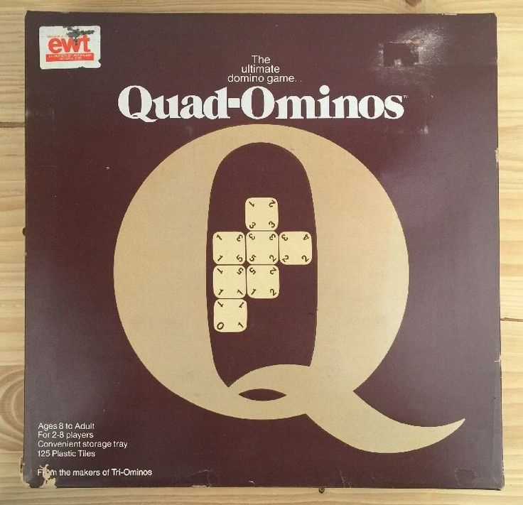 """Vintage Rare The Ultimate Domino Game """" Quad-Ominos"""" by Kenbrite EWT NO.33-4422"""