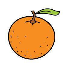 Resultado de imagen para mandarina dibujo animado