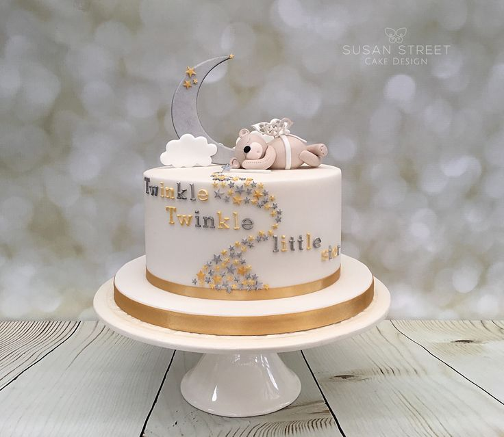 Twinkle, Twinkle Little Star.... Baby Shower Cake With Moon, Stars