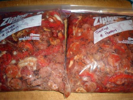 Italian Sausage and Peppers (Crockpot Freezer Meal)