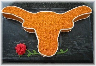 Texas Longhorn Cake cakepins.com