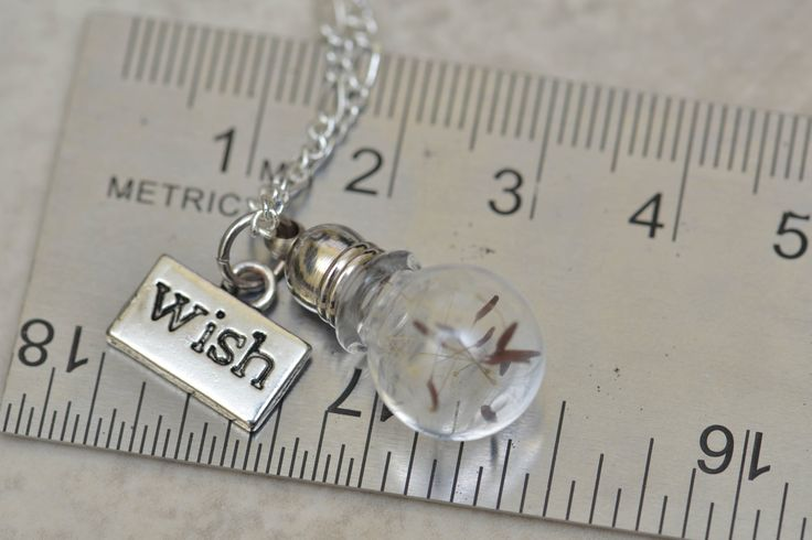 Dandelion Wish Necklace, Dandelion Seeds, Grow Your Own Dandelion, Wish Necklace, Cute Jewelry, Dandelion Jewelry, A-00007 by FootprintsOnVenus on Etsy