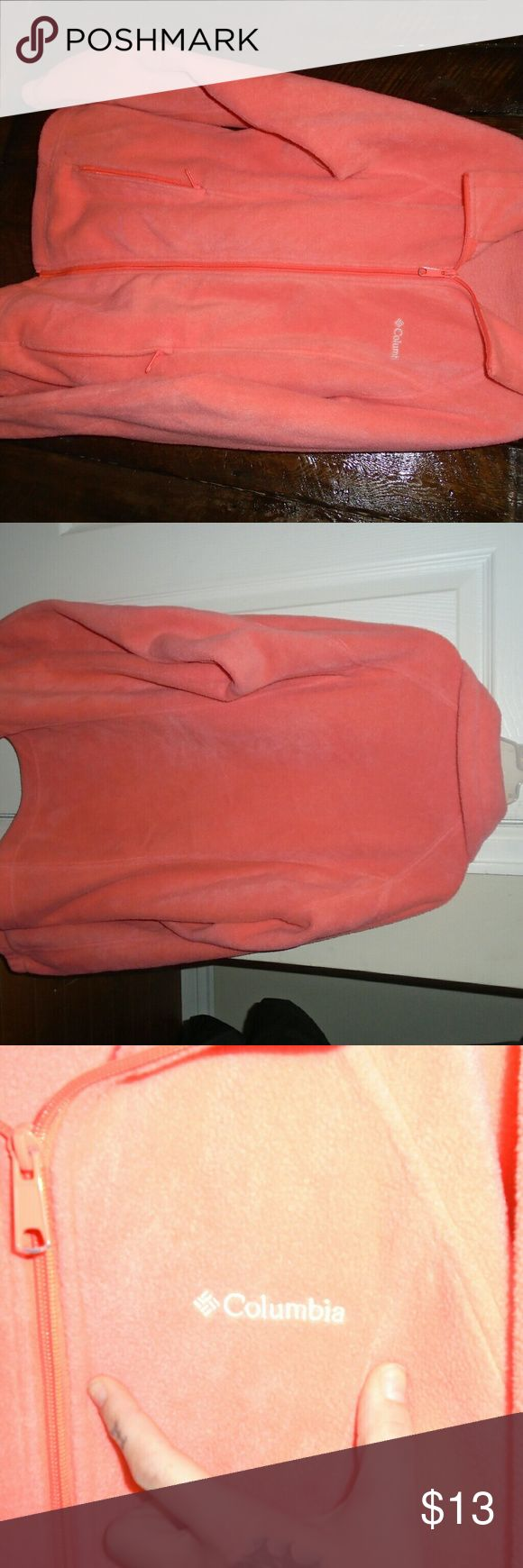 Columbia zip up jacket Women's small. Excellent used condition. Orange/Pink color. Columbia Jackets & Coats