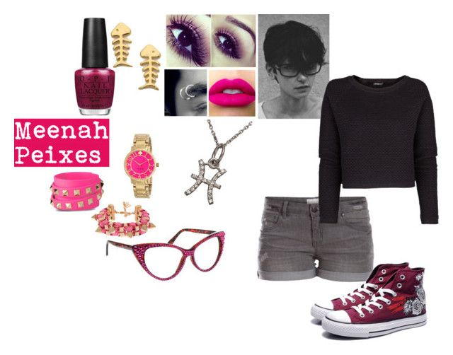 """""""Homestcuk: Meenah Peixes Inspired Outfit"""" by cxden ❤ liked on Polyvore featuring KC Designs, Pieces, Converse, OPI, Gorjana, MANGO, Kate Spade, Valentino, Talullah Tu and John & Pearl"""
