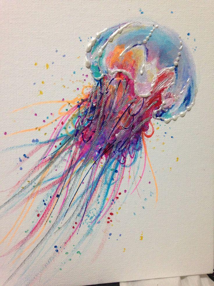 Acrylbild Bunte Löwe Jellyfish 8 von 10 in der von LaurenHellerArt