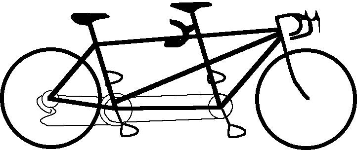 Женщине картинках, велосипед тандем картинки рисованные