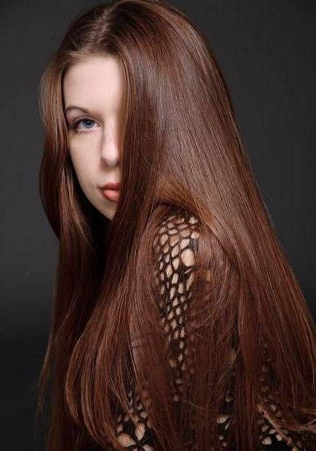 Каштаново медный цвет волос