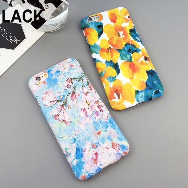 2016 Новый Топ За Цветами Телефон Случаях Для Apple Iphone 6 s Красочные цветы окрашены оболочки Для Iphone 6 plus 5S капа Funda
