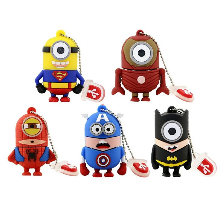pen drive minions usb flash drive cartoon usb stick minion superhero pendrive cute usb stick 4G 8G 16G for boy gift flash card-in USB Flash Drives from Computer & Office on Aliexpress.com | Alibaba Group