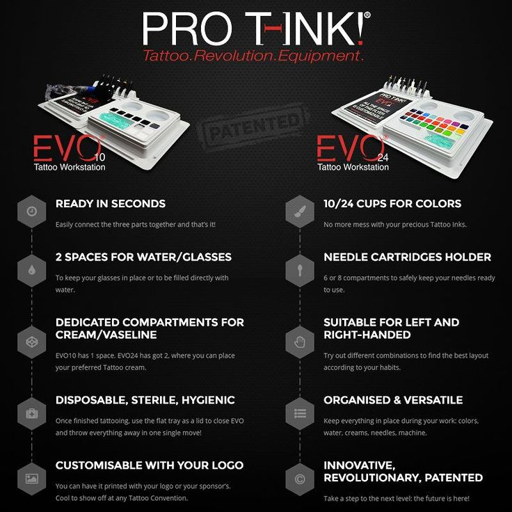 Check out the great features of our EVO10 and EVO24 Tattoo Workstations! More Info: www.pro-t-ink.com #protink #tattoosetup #inkpalette #tattooinks #sterile #tattoostation #tattooequipment #evo #workstation