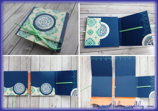 flipbook ethnique bleu vert blue green #scrap #secretsdelina