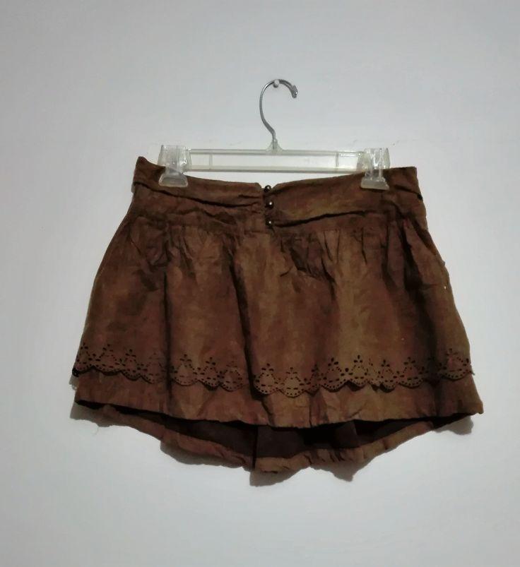 Mini falda estilo tipo gamuza Talla 38 $5.500