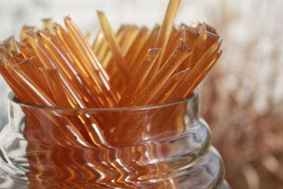 Honey Sticks Pure Wildflower Honey - 25 Honey Filled Sticks. Great for Honey Wedding Favor on Etsy, $6.00
