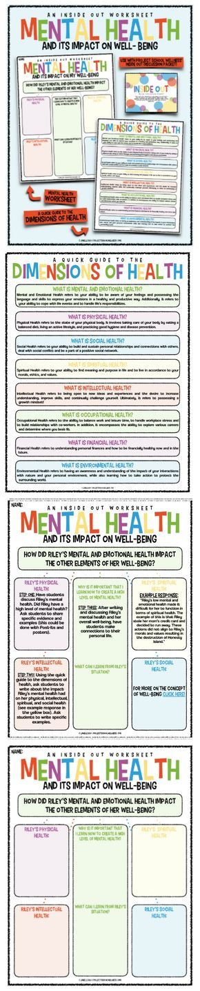 Every health teacher and school counselors needs this mental health worksheet! Use the magic of Inside Out to teach kids about mental health and how to thrive! This Inside Out lesson plan can be use in any middle school health classroom!