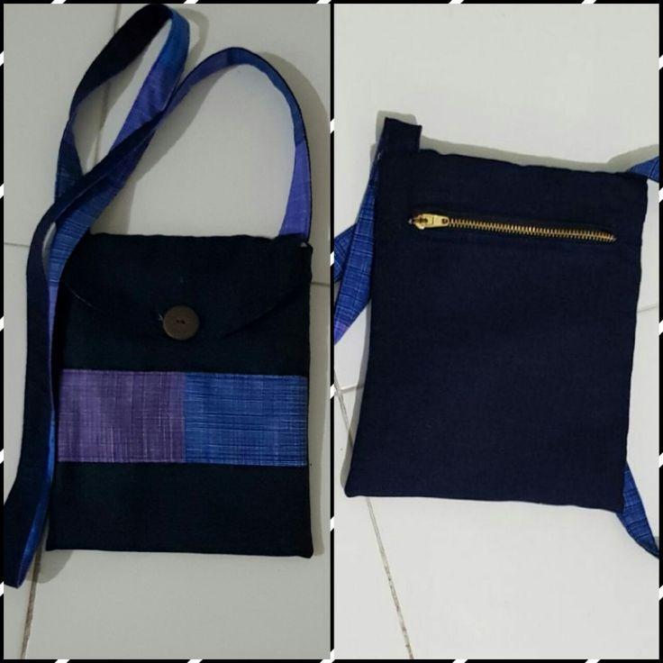 Small denim crossbody bag #self-made