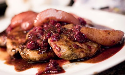 Sauteed Chicken with a Pear Raspberry Sauce