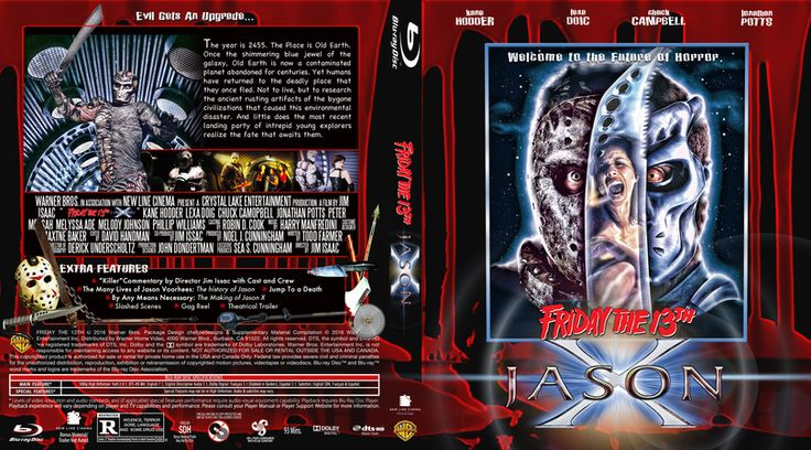 Friday The 13th Part 10- Jason X Blu-ray Custom Cover