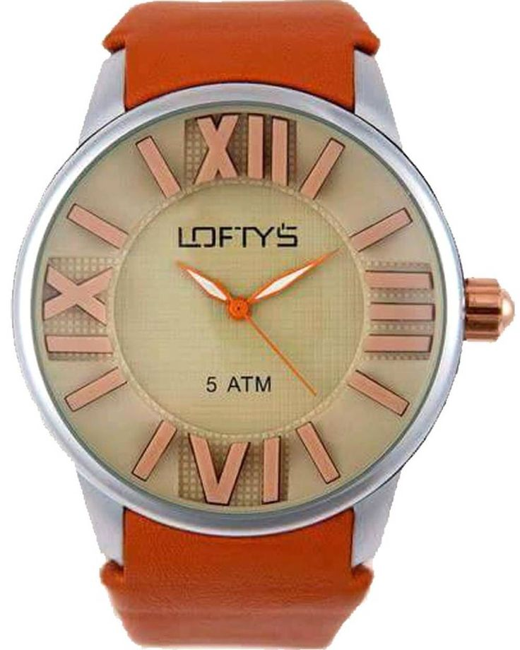 XL Ladies Watch with Orange Leather Strap Y 3402OR - https://www.loftyswatches.com/shop/xl-ladies-watch-orange-leather-strap-y-3402or/