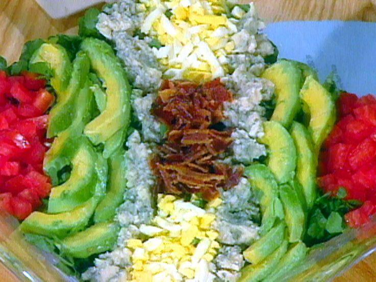 Layered Cobb Salad recipe from Sara's Secrets via Food Network