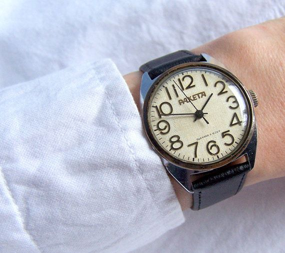 Soviet Watch Raketa. Rocket Russian Men's Mechanical Wristwatch USSR Gift for him