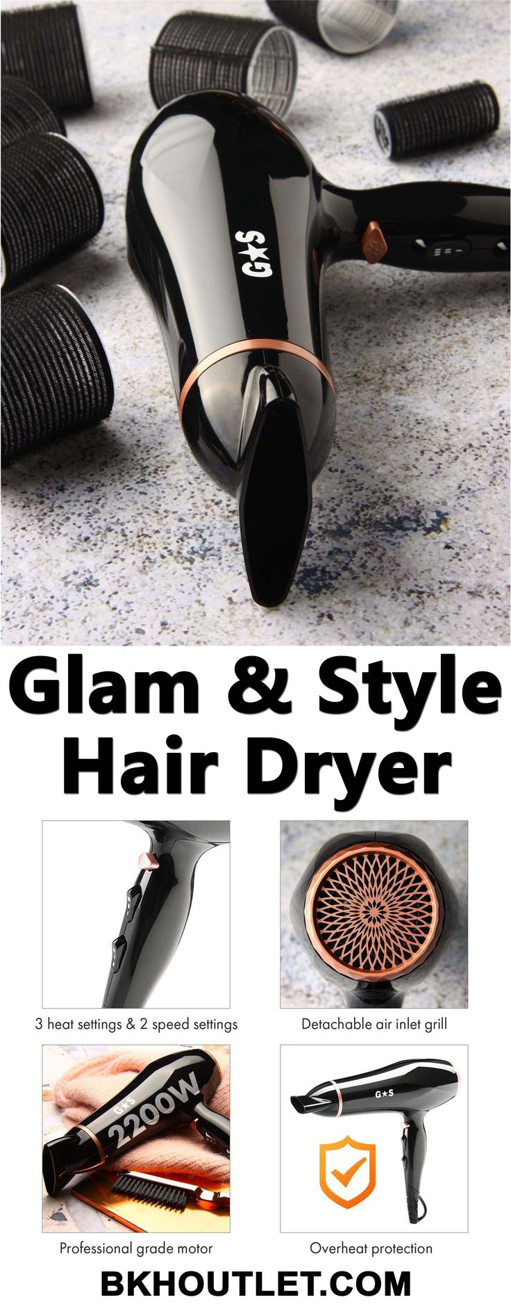 A HIGH-QUALITY HAIR STYLING BRAND AT AFFORDABLE PRICE All Glam & Style Products are inspired by professional hair styling salons. │hair care │hair care products │curl hair │curling wands │hair dryers │hair styles │hair removal │bkhoutlet │woman fashion #haircare #haircareproducts #curlhair #curlingwands #hairdryers #hairstyles #hairremoval #bkhoutlet #womanfashion
