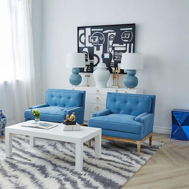 Davis Club Chair, Blue - Bungalow 5