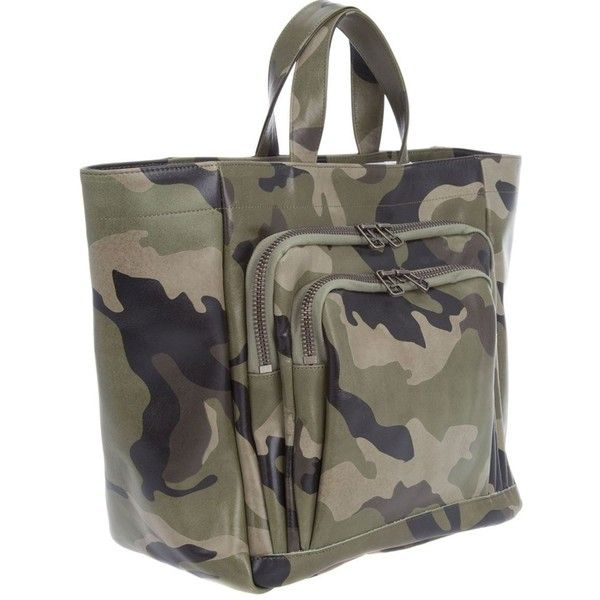 Junya Watanabe Comme Des Garçons Camoflage bag ❤ liked on Polyvore featuring bags, handbags, camouflage handbags, camo diaper bag, camoflauge purse, camo purse and shoulder bags
