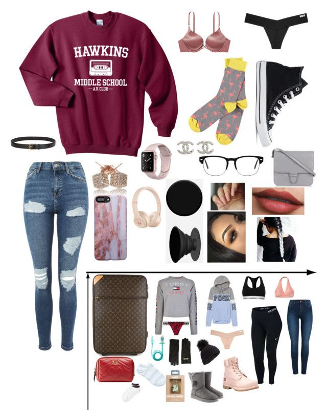 """Visiting the family for the holidays!"" by hazzajelly03 ❤ liked on Polyvore featuring Topshop, Victoria's Secret, Converse, Chanel, Alaïa, Chloé, Beats by Dr. Dre, PopSockets, Louis Vuitton and Tommy Hilfiger"