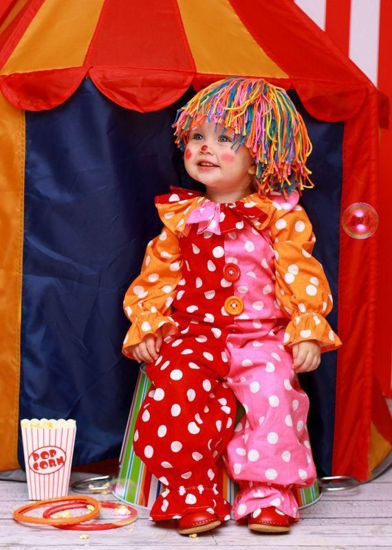 A cute clown costume for toddlers.
