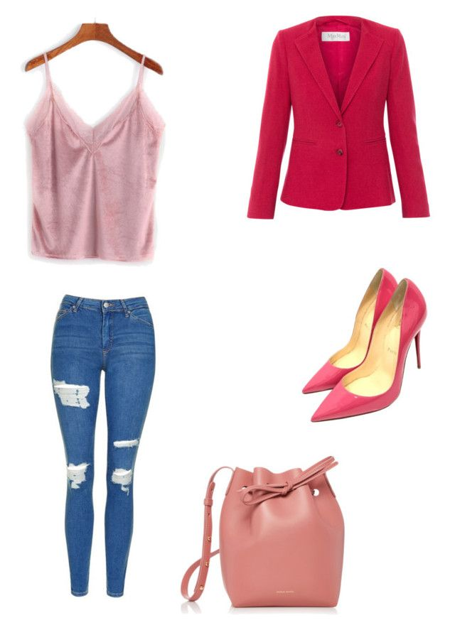"""Untitled #61"" by petricaiacob on Polyvore featuring Mansur Gavriel, Topshop, MaxMara and Christian Louboutin"