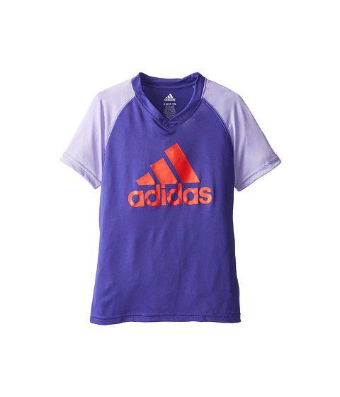 awesome adidas Kids CLIMALITE® S/S Color Block Raglan (Big Kids) Dark Grey Heather/Vivid Mint
