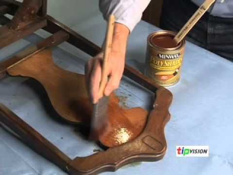 How to Refinish Old Wood Furniture - for rocking chair