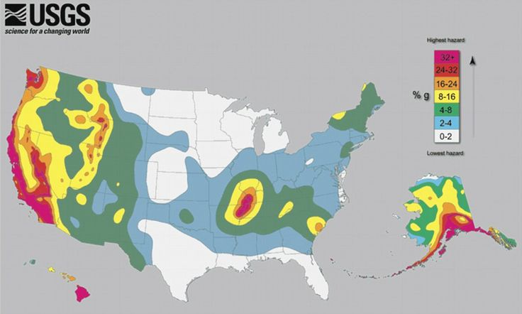 Think living in Tennessee makes you safe from earthquakes? The earthquake map of America that will make you think again