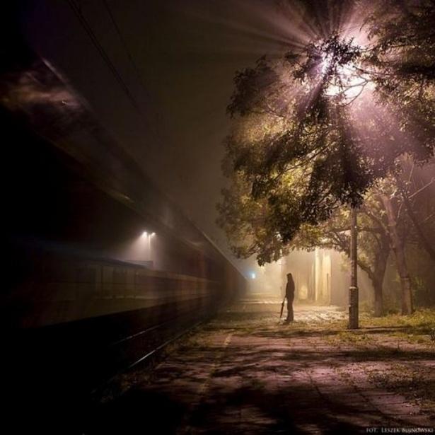 Dark Photography By Leszek Bujnowski: Photos, Picture, Night Photography, Leszek Bujnowski, Beautiful, Photo Inspiration, Train Spectrum, Trains