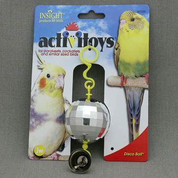 Игрушка для птиц J.W. зеркальный шар с колокольчиком пластик