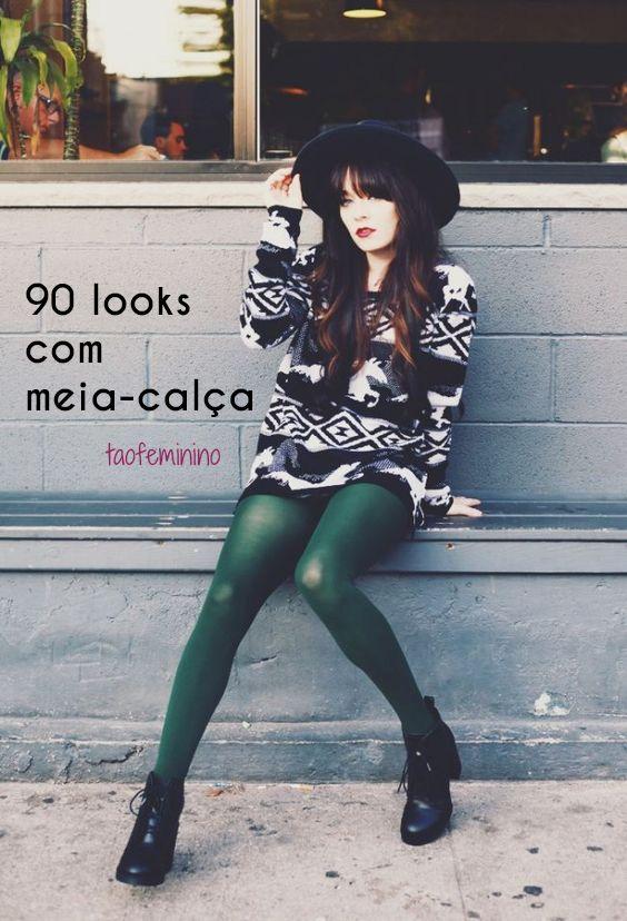 90 looks com meia-calça colorida ou estampada. Do descolado ao sexy, montamos galerias com looks mara!