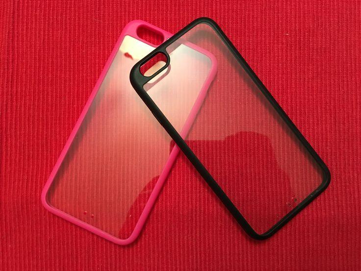 Capa Transparente Super Fina (Preto e Rosa) - PVP 5€