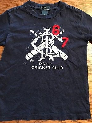 Polo, Ralph Lauren Boys Size 6 Cricket Short Sleeve Navy Tee Shirt    eBay