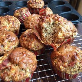 Een muffin die het midden houdt tussen zoet en hartig. Daardoor dus eigenlijk op alle momenten van de dag lekker!
