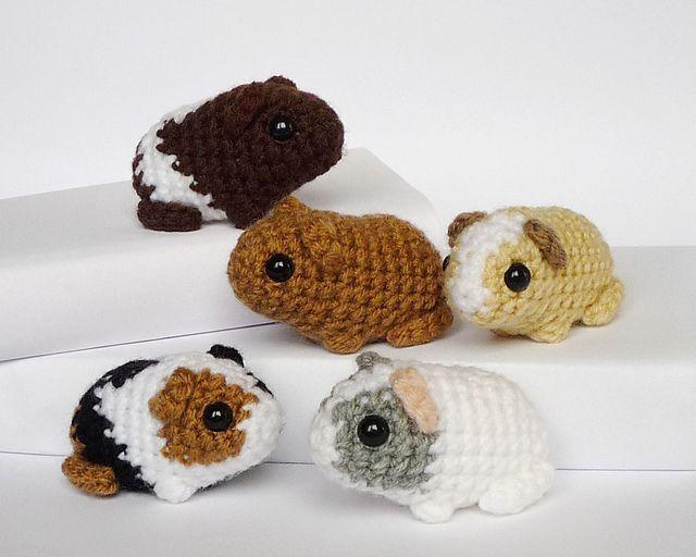 Baby guinea pig amigurumi - FREE crochet pattern by Kati