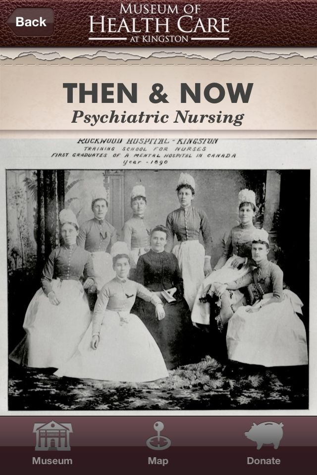 History of nursing in Kingston app! Free to download in the App Store #histmed #healthCare #nursing