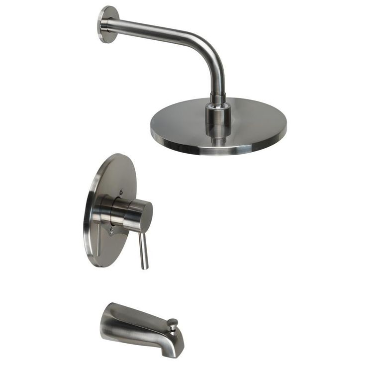 Ultra Faucets Euro Collection Single-Handle 1-Spray Tub and Shower Faucet in Brushed Nickel